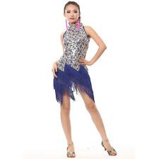 Ballroom Dress Flowers Sequins Latin Dance Skirt Standard Prom Costume