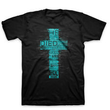 New Kerusso HE DIED SO WE MAY LIVE Black Cross Mens Christian T-Shirt