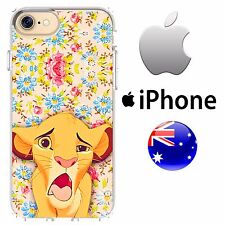 iPhone Silicone Case Cover Disney Classic Floral Overload Lion King Simba Pumba