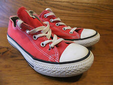 Converse CT All Star Red Canvas  Trainers Plimsolls Size UK 2 EUR 34