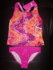 ~SPEEDO YOUTH Girl 2pc BRIGHT COLOR Racerback TANKINI Swimsuit SIZE VARIETY NEW