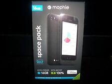 NEW Mophie Space Pack Battery Case for iPhone 5s/5 16GB Extra Storage