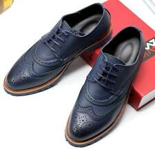 New Mens oxford brogue wing tip dress formal casual shoes carving lace up shoes