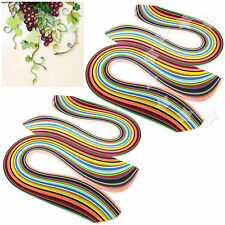 2 Sets of 360pcs 3/5mm Quilling Paper Strips Assorted 36 Colours DIY Craft