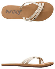 New Reef Women's O'contrare Lx Sandal Rubber Leather Natural