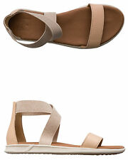 New Reef Women's Rover Hi Le Sandal Rubber Soft Leather Natural