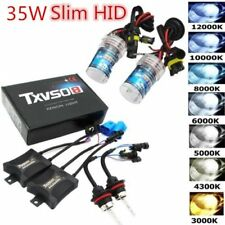 35W HID Xenon Bulbs Headlight Slim Ballast Conversion Kit H1/3/4 H7 9005 9006 YR