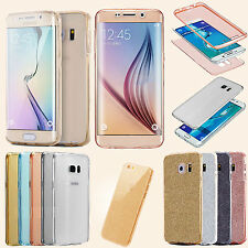 Shockproof Front+Back Full Gel TPU 360°Protective Phone Cover For iPhone,Samsung