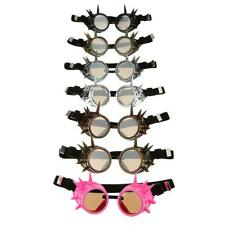 Steampunk Spikes Goggles Cyber Welding Goth Cosplay Vintage Victorian Sunglasses