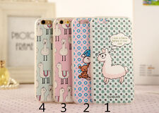 For iPhone 6/6s/plus Lovely Sheep Camel Pattern Hard Back Protective Skin Case
