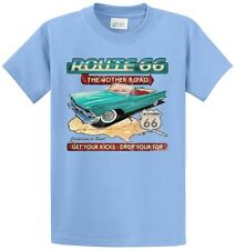 Route 66 Get Your Kicks Printed Tee Shirts Men's Big & Tall and Regular Sizes