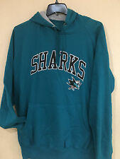 San Jose SHARKS Teal Pullover Hoodie - Men's Embroider Pullover Hoodie by G-III