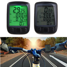 Waterproof Cycle Bicycle Bike LCD Computer Odometer Speedometer With BackligF6