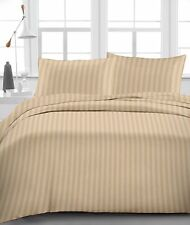 USA SOFT 1000TC TAUPE STRIPE AMERICAN BEDDING SHEETS COLLECTION 100% COTTON - TU