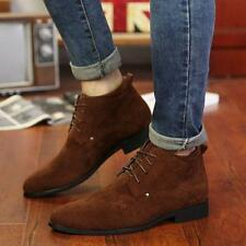 Mens high top casual dress lace up oxford suede chukka High top ankle Boots