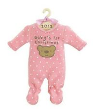 HALLMARK 2012 BABYS GIRLS FIRST CHRISTMAS Pink Teddy Bear Sleeper Ornament NIB