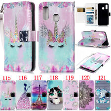 Feather Bird Stand Wallet Leather Flip Case Cover For Samsung A310 J120 G530 J3