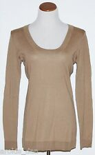 GAP MATERNITY~Lt Brown Long Sleeve Scoopneck Sweater~Size M, L ~NWT