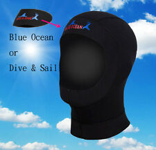 Scuba wetsuit Diving Swimming hooded hood set diving helmet warmth Face mask 3mm