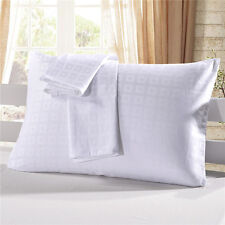 Cotton Pack of 2 Pillowcases Pillow Protectors Checked Hotel Style for Bedroom