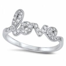 Heart Promise Love Ring Solid Sterling Silver Russian CZ Valentines Love Gift
