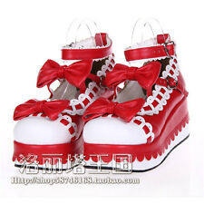 Lolita Shoes Round Toe lovely Bowknot High-heeled Platform Shoes free shipping