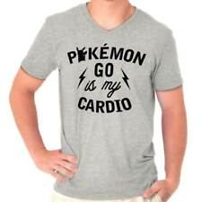 Funny Humorous Pokemon GO is my Cardio Humorous Graphic Gamer V-Neck T-Shirt