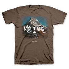 Faith Can Move Mountains Religious Brown Kerusso Christian Scripture T-Shirt