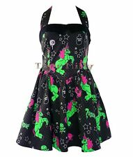 HELL BUNNY I HEART ZOMBIE MINI unicorn DRESS BLACK