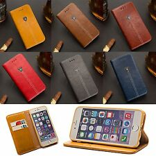 Fashion Leather Flip Card Stand Wallet Phone Case Cover Skin For Iphone Samsung