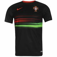Nike Portugal Away Jersey 2015 Mens Black/Red Football Soccer National