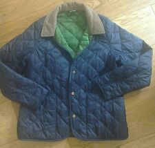 boys Quilted Barbour jacket blue size L age 10/11