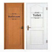Removable Vintage Wall Stickers Bathroom Decor Toilet Door Sign Vinyl Art Decals