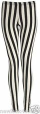 NEW LADIES VERTICAL STRIPE PRINT FULL LENGTH LEGGING SPEEDY POST SALE UK8-14