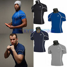 Summer Compression Gym Sports T-shirts Mens Bodybuilding Fitness Jersey Tee Tops