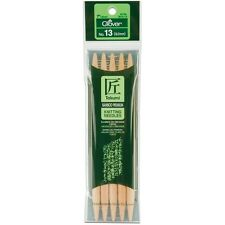 Takumi Bamboo Double Point Knitting Needles 18cm 5/Pkg. Shipping Included