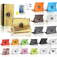 For iPad 2 3 4 Rotating PU Leather Magnetic Stand Case Wake Up Sleep Smart Cover
