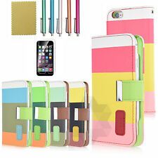 PU Leather Flip Card Slots Stand Cover Case Wallet for Apple iPhone 6