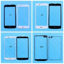 White / Black Front Outer Lens Glass Screen for LG Phone K5 K7 K8 K10 V10