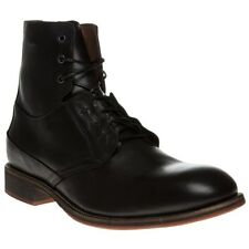 New Mens SOLE Black Dobins Leather Boots Lace Up
