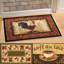 "NEW ~ ROOSTER FRUIT COFFEE Kitchen Accent Rug Mat 30""Lx20""W Non Skid Backing"