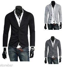 Fashion Stylish Men's Casual Slim Fit Two Button Suit Blazer Coat Jacket Tops