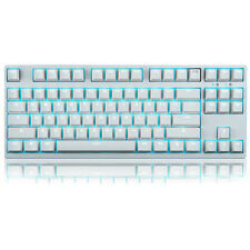 Colorful LED Backlit Cherry MX Blue Switches Mechanical Gaming Keyboard