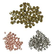 100pcs Wholesale Craft Crimp Knot Cover Beads DIY Making Jewelry Findings 4mm