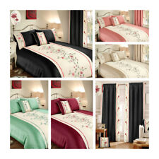 Sapphire Luxury Floral Embroided Embellished Duvet / Quilt Cover Bedding Set