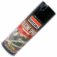 Soudal Silicone Spray Lubricant Cleaner 400ml Can Protects Cars Bikes Packs