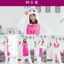 Adult Unisex  Onesie Unicorn Kigurumi Pajamas Animal Cosplay  Costume Sleepwear