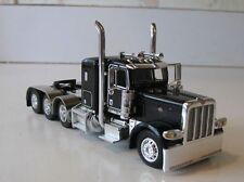 """DCP 1/64 BLACK PETE 389 WITH 36"""" SLEEPER TRI AXLE"""