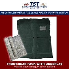 MOULDED CAR CARPETS (J03) CHRYSLER VALIANT R&S SERIES AP5 AP6 VC  F&R & UNDERLAY