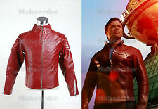 Smallville Clark Kent Red Leather Jacket Coat costume Cosplay Halloween Party